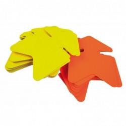 AGIPA Paquet de 25 étiquettes pour point de vente en carton fluo jaune/orange forme flèche 16x24 cm