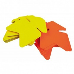 AGIPA Paquet de 25 étiquettes pour point de vente en carton fluo jaune/orange forme flèche 24x32 cm