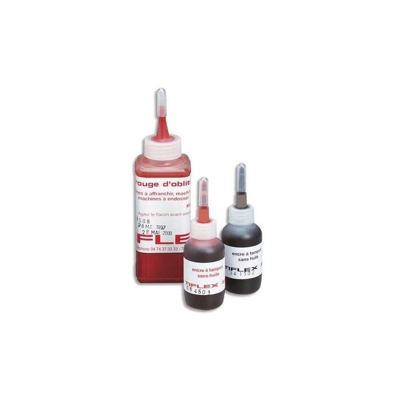 TIFLEX Flacon de 30ml Encre à tampon sans huile pour timbres caoutchoucs Rouge
