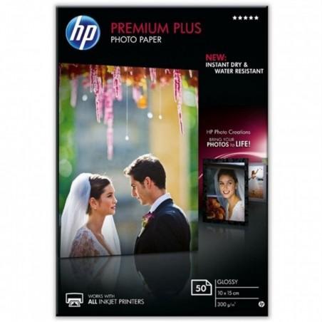 HP Boîtes 50 feuilles papier photo Premium Plus 10x15cm 300g Brillant