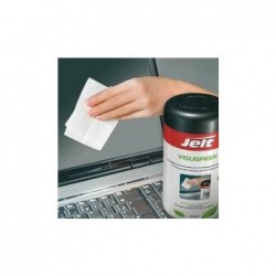 JELT Lingettes VISUGREEN pré-imprégnées d'une solution biodégradable pour écrans fragiles, B/70 4841