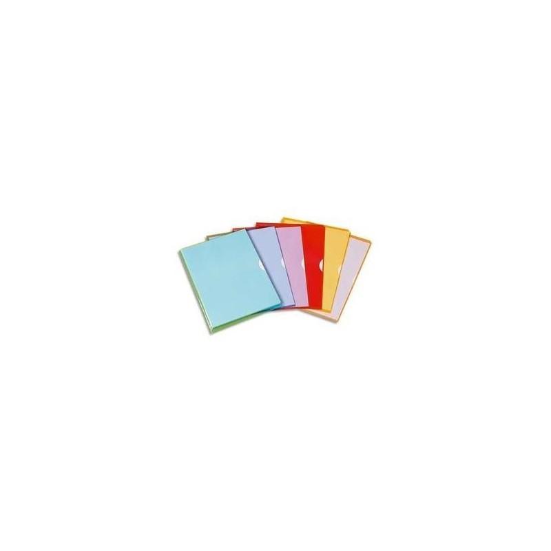 ELBA Boîte de 50 Pochettes-coin Fard'Liss coloris assortis en PVC 20/100e