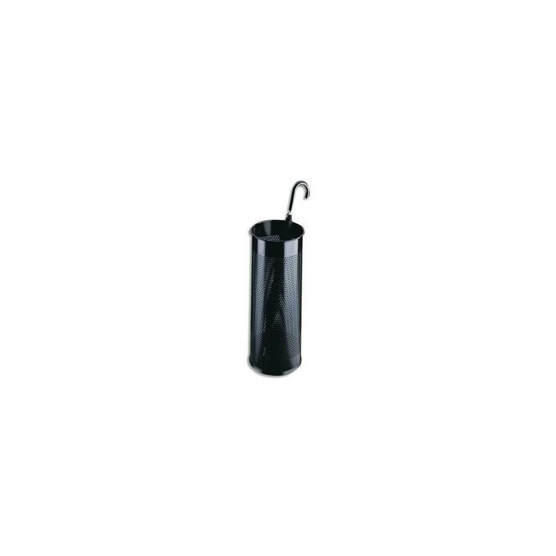 DURABLE ROSSIGNOL Porte-parapluie tôle perforée noir 28,5 litres Diam 26 x H62 cm