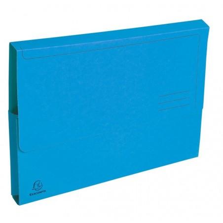 EXACOMPTA Paquet de 50 chemises à poche Forever en carte recyclée 290g, bleu vif