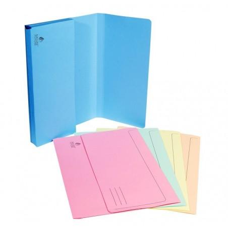 EXACOMPTA Paquet de 50 chemises à poche Nature Future carte jura 220g, assortis pastel