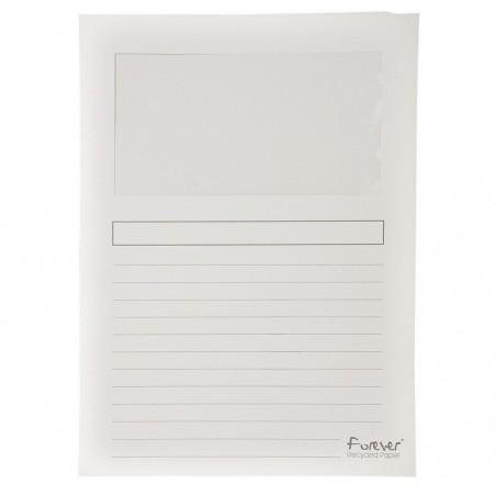 EXACOMPTA Paquet de 25 pochettes coins en carte 120g avec fenêtre, assortis pastel