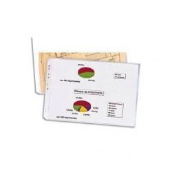 ELBA Sachet de 10 pochettes format A3 à ouverture en coin en polypropylène 9/100e, perforation 9 trous