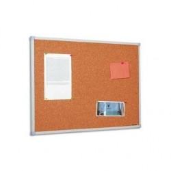 BI-SILQUE Tableau d'affichage liège cadre PVC 90 x 120 cm