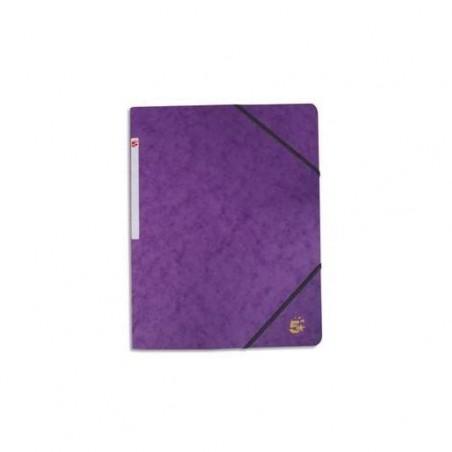 5 ETOILES Chemise 3 rabats et élastique en carte violet