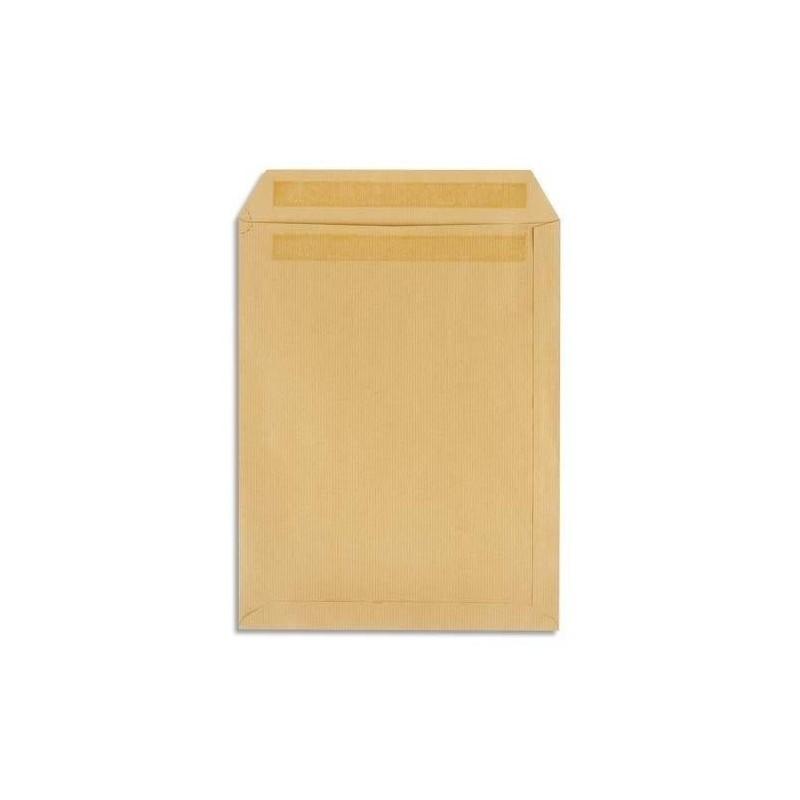 5 ETOILES Boîte de 500 pochettes C5 162x229 kraft brun autocollant 90g