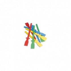 CCB Lot de 12 (10+2 gratuit) spatules 11,5 cm en plastiques multicolores avec collier