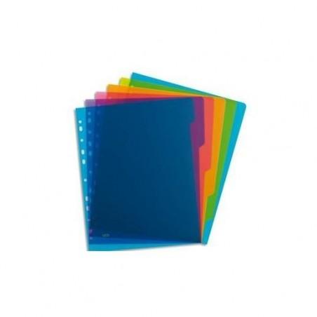 ELBA Intercalaire SCHOOL LIFE 6 touches polypropylène translucide A4, coloris assortis