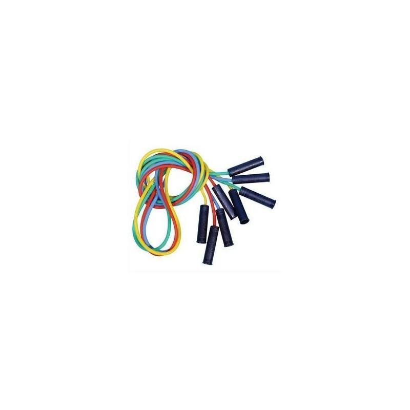 FIRST LOISIR Lot de 4 cordes à sauter en plastique 225 cm avec poignées coloris Aléatoire