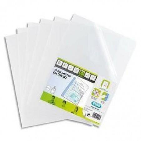 ELBA Sachet de 10 pochettes coins STUDENT PP 12/100ème A4 incolore