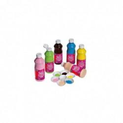 LEFRANC BOURGEOIS Carton de 6 flacons de 500 ml de peinture acrylique brillante GLOSSY Assorties
