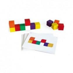 OZ INTERNATIONAL Lot de 76 Cubes 20X20 mm + 30 fiches Couleurs Assorties
