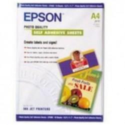 EPSON Pochette de 10 Papier adhésif Photo A4 167g Blanc