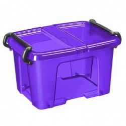 CEP Boite de rangement plastique avec couvercle capacité 6 litres Violet