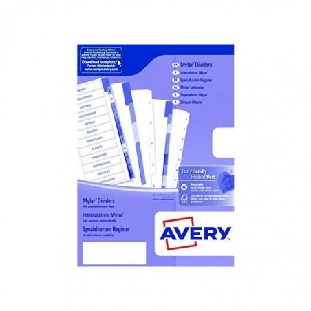 AVERY ZWECKFORM Répertoire alphabétique 20 touches onglets plastifiés de couleur. Format A4
