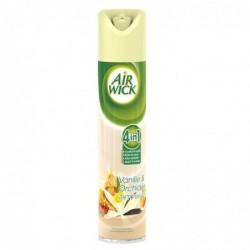 AIRWICK Désodorisant Aérosol 100% naturel sans gaz propulseur 240ml parfum vanille/orchidée