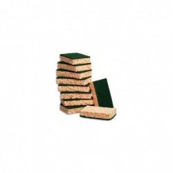 TAMPON JEX Lot de 10 tampon éponges végétales rectangulaires vert