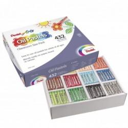PENTEL Boîte de 432 pastels à l'huile diamètre 8 mm couleurs assorties