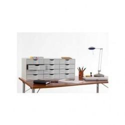 PAPERFLOW Bloc classeur 12 tiroirs gris