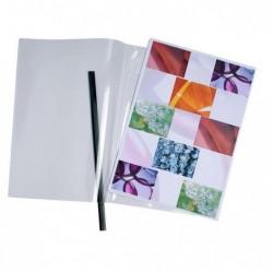 EXACOMPTA Sachet de 10 chemises PVC 20/100 transparentes Reliure manuelle