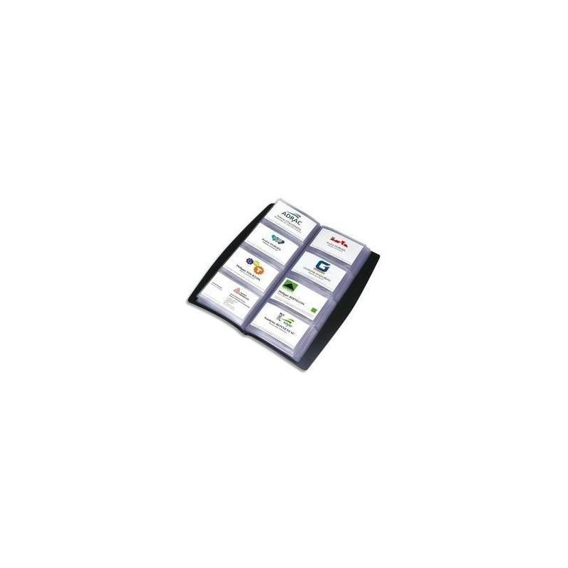 ELBA Porte-cartes de visite tout terrain noir 240 cartes