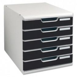 EXACOMPTA Bloc de classement Modulo 5 tiroirs A4+ 54mm Gris / Noir