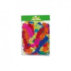 PW INTERNATIONAL Sachet de 25 grammes de plumes couleurs assorties