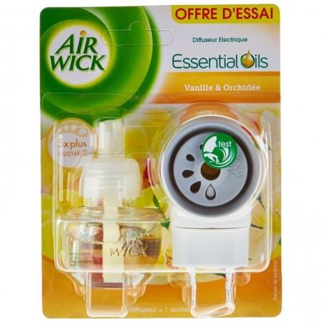 AIRWICK Diffuseur désodorisant électrique parfum vanille orchidée