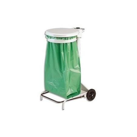 ROSSIGNOL Support porte-sac à pédale et roulettes pour sacs poubelle 110 litres