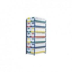 PAPERFLOW Lot de 5 plateaux Isorel pour rayonnage Rang'Eco - Longueur 100 cm, profondeur 68 cm
