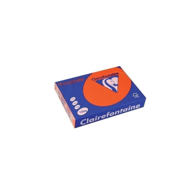 TROPHÉE Ramette 250 Feuilles Papier 160g A4 210x297 mm Certifié FSC  Rouge cardinal