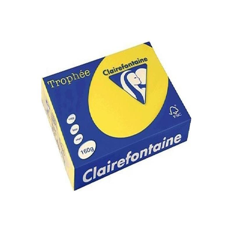 TROPHÉE Ramette 250 Feuilles Papier 160g A4 210x297 mm Certifié FSC  jaune soleil