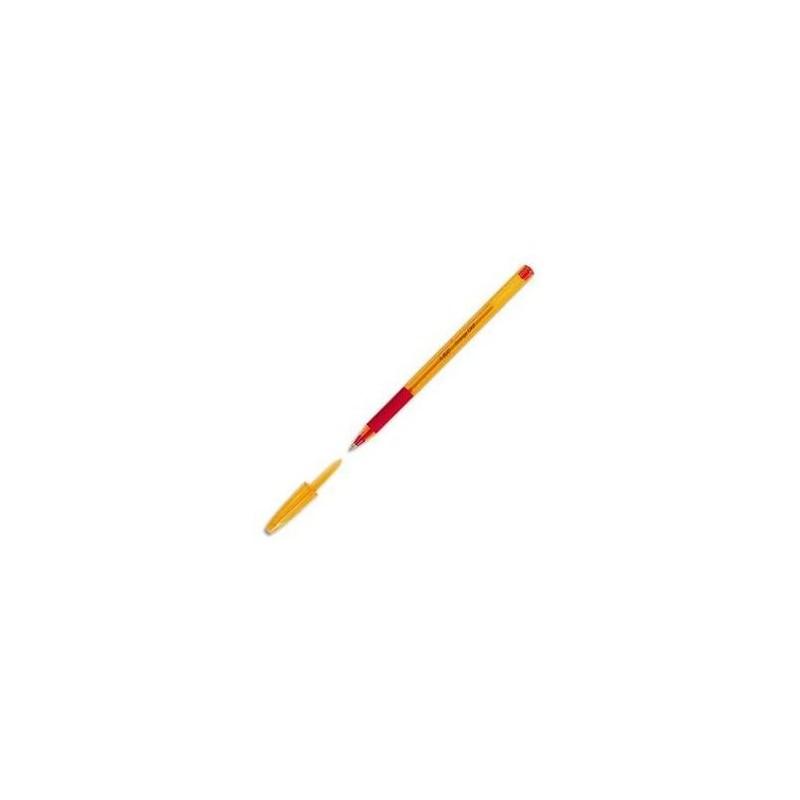 BIC Stylo bille ORANGE GRIP Pte Fine 0,7mm Encre Rouge