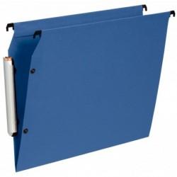 ESSELTE Pack de 10 dossiers suspendus PREMIUM opaque fond V armoire Bleu