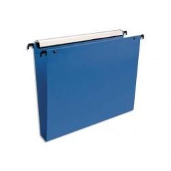 ESSELTE Pack de 10 dossiers suspendus PREMIUM opaque, fond 30 tiroir bleu