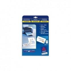 AVERY ZWECKFORM Pochette de 250 cartes de visite 85x54mm 270g Quick&Clean, impression recto verso