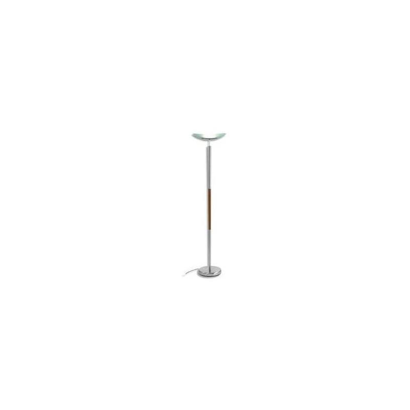 ALBA Lampadaire halogène Elys 200W - Hauteur 180 cm, socle D29 cm coloris alu et bois