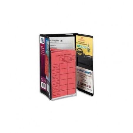 ELBA Boîte de 5 étuis 3 volets pour carte grise 9x13,5 cm en PVC 30/100e