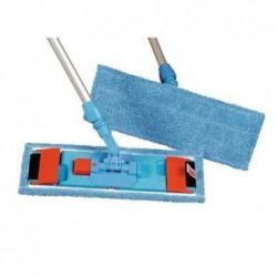 RUBBERMAID Franges bleus microfibres pour support BU400 utilisation à sec