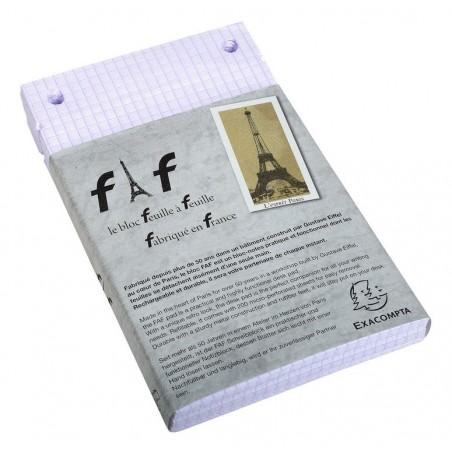 EXACOMPTA Boîte de 5 recharges FAF N°3, format 18,5X11,5cm réglure 5x5