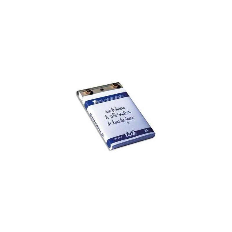EXACOMPTA Socle FAF N°2, format 16X10cm en tôle aluminium avec recharge papier uni