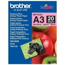BROTHER pack de 20 feuilles de papier photo A3 BP71GA3