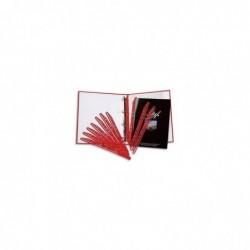 5 ETOILES Paquet de 100 bandes perforées porte- revues MAGI CLIP rouge