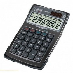 CITIZEN Calculatrice WR3000 12 Chiffres Water Proof Noir
