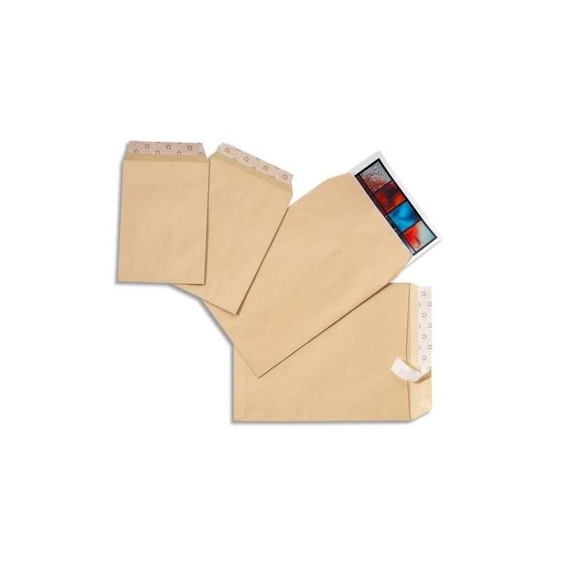 5 ETOILES Boîte de 250 pochettes autoadhésives 90g 229 x 324mm avec fenêtre 50x100 mm