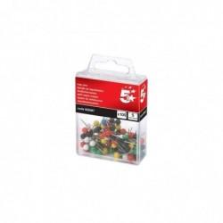 5 ETOILES Boite de 100 épingles de signalisation tete boule 5 mm Coloris assortis.